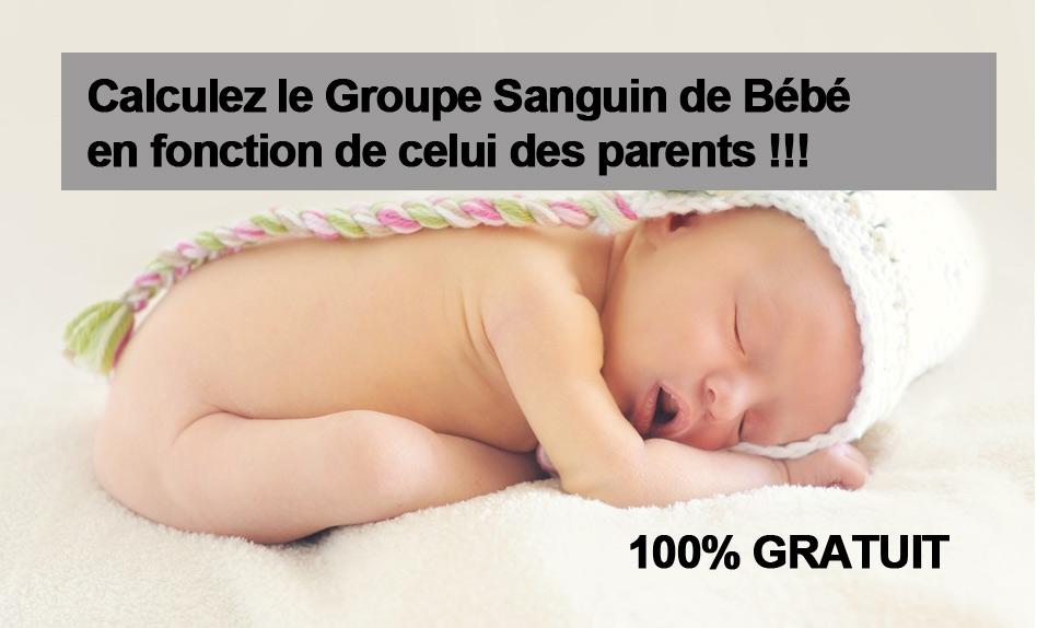 Calculatrice Groupe Sanguin Enfant Par Rapport Aux Parents